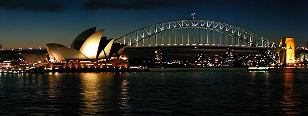 Sydney Opera House and Sydney Harbour Bridge photo